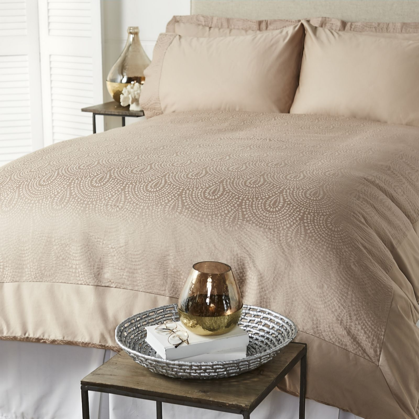 Kelly Hoppen 900TC Egyptian Cotton Bali Jacquard 6 Piece .
