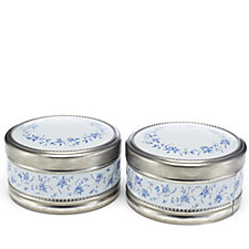 805033 - Churchills Set of 2 Porcelain Tins with Shortbread