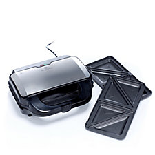 Cook's Essentials Sandwich & Panini Grill with Changeable Plates