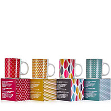 Cook's Essentials Set of 4 Colour Changing Mugs in Gift Boxes