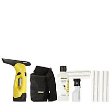 Karcher WV2 Window Vacuum Cleaner with Spray Detergent, Holster & 3 Pads