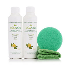 Ecoegg Liquid Hard Surface Cleaner Duo with Cloth and Sponge