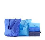 Sachi Set of 5 Assorted Insulated Shopper Totes with Trolley Token