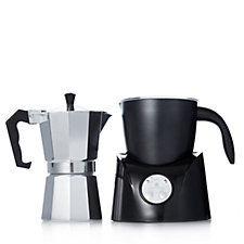 804239 - Cook's Essentials Duo Coffee Maker & Milk Frother Unit