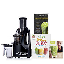 805840 - Jason Vale Retro Slow Juicer w/ Hardback Book 28 Day DVD & Wall Planner