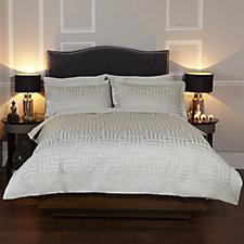 Kelly Hoppen Ikat Layered 900TC Egyptian Cotton 6 Pc Duvet Set