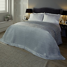 Kelly Hoppen Chain Link Reversible Embroidered Bedcover