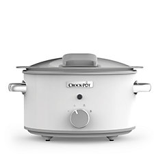 Crock-Pot 4.5L White Saute Slow Cooker with Hinged Lid & Ceramic Coating