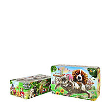 Churchill's Confectionery 2 Piece Mickey's Garden Party Tins with Biscuits