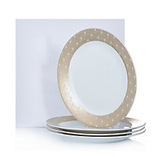 JM by Julien Macdonald Deco Collection 4 Large Porcelain Dinner Plates