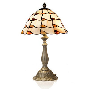 Tiffany Style Handcrafted Jewelled Ballroom Skirt Table Lamp 830547 QVCUK