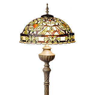 Tiffany Style Handcrafted Antique Toned Floor Lamp 830548