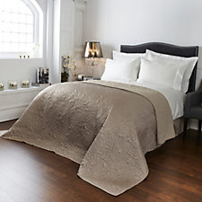 Kelly Hoppen Embroidered Coral Design Reversible Bedcover