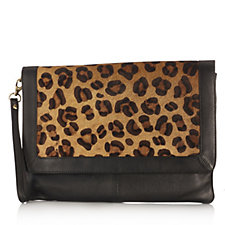 Amanda Lamb Large Leather Travel Clutch