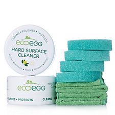 Ecoegg 2 x 300g Surface Cleaners w/4 Sponges & 2 Cloths