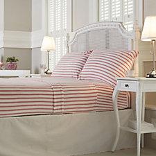 Cozee Home Stripe Print Fleece 4 Piece Sheet Set