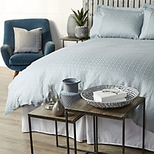 Kelly Hoppen 1000TC Egyptian Cotton Madison Jacquard 6Pc Duvet Set