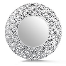 JM by Julien Macdonald Signature Circular Crystal Mirror