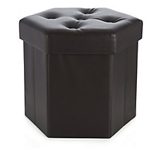 Hexagonal Folding Storage Ottoman