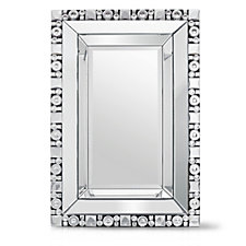 804954 - JM by Julien Macdonald Signature Rectangular Crystal Mirror
