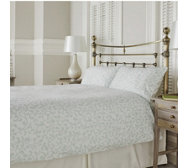 Northern Nights Pretty Scroll Print Brushed Cotton 4 Piece Duvet Set