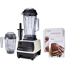805255 - Vitamix 2L TurboBlend with 0.9L Dry Grains Container & Cook Book
