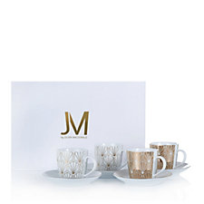 JM by Julien Macdonald Deco Collection 4 Piece Porcelain Espresso Set