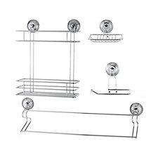 Beldray Suction Bathroom Accessories Kit