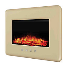 Smeg Retro L30FABE Wallmounted Electric Fireplace w/Remote Control