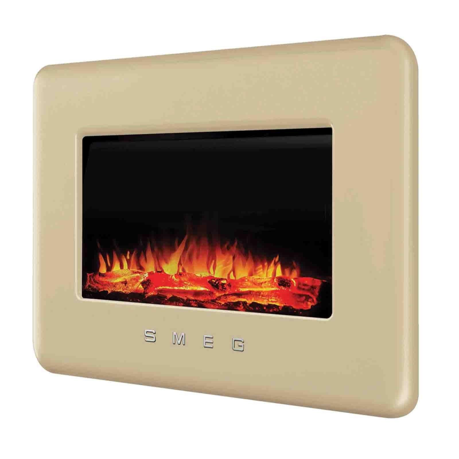 smeg retro l30fabe wallmounted electric fireplace w remote control