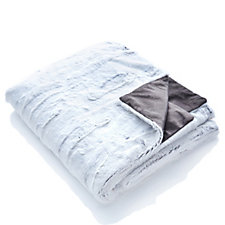 Alison Cork Silver Birch Faux Fur Throw