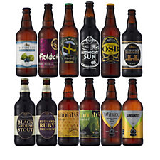 Best of British Beer 12 Piece Taster Selection with Beer Tasting Guide