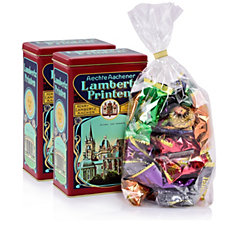 Lambertz 560g 2 Hoflieferant Tins Fillled with German Gingerbread