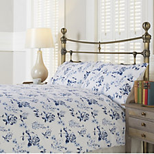 Northern Nights Blooming Rose Flannel 4 Piece Duvet Set
