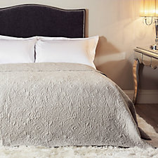 803968 - JM by Julien Macdonald Signature Paisley Embroidered Bedcover
