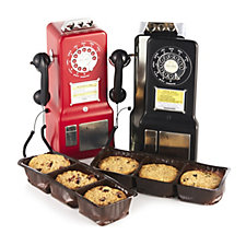 806768 - Churchill's Confectionery Set of 2 Retro Phonebox Tins with Biscuits