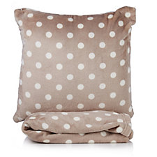 Cozee Home Spot & Stripe Reversible Throw & Cushion Set