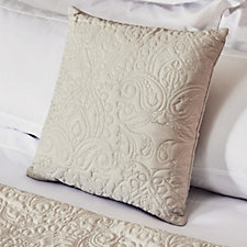 803970 - JM by Julien Macdonald Signature Paisley Embroidered Cushion