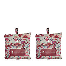 The Camouflage Company Set of 2 Foldaway Bags with Pocket