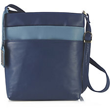 Amanda Lamb Leather Triple Zip Everyday Crossbody Bag
