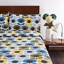Orla Kiely 3 Piece Cotton Duvet Cover & Pillowcase Set