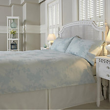 Northern Nights 300TC 100% Cotton Jacquard Yarn Dye Rose Garden 4Pc Duvet Set