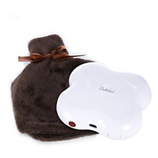 804575 - Dreamland Rechargeable Cordless Heat Pod with Faux Fur cover