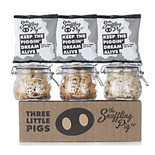 The Snaffling Pig N' Mix 3 x 100ml Jars with 3 Refill Snack Bags