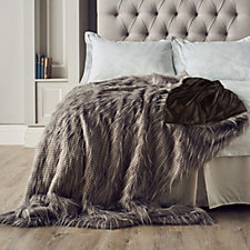 Alison Cork Luxury Tipped Faux Fur Throw