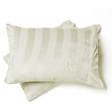 Cozee Home Embossed Stripe Velvetsoft Duvet Set with Deep Fitted Sheet