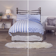 Cozee Home Set of 2 Fleece Duvet Sets with Deep Fitted Sheet