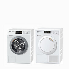 Miele WDB030 Washing Machine 7kg A+++ & TKB140 Tumble Dryer 7kg A++ Bundle
