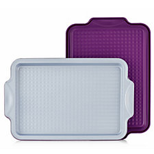 804580 - Cook's Essentials Set of 2 Non Stick Baking Trays