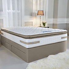 804980 - Sealy Posturepedic 660 Geltex Pillow Top Mattress & Divan Bed with Drawers